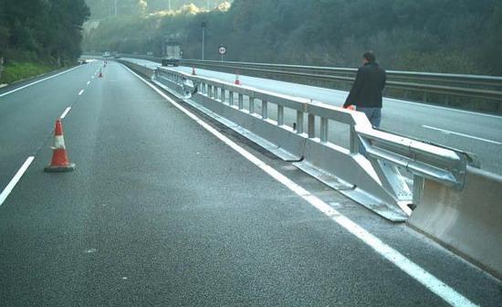 Seguridad vial barrera de seguridad biondas tecvisur - Barrera de seguridad ...